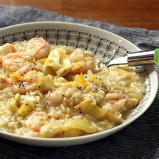 Lemon, Artichoke And Shrimp Risotto (stovetop And Pressure Cooker Methods)