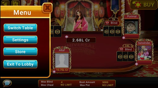Universal Teen Patti - Indian Poker Game  captures d'u00e9cran 14