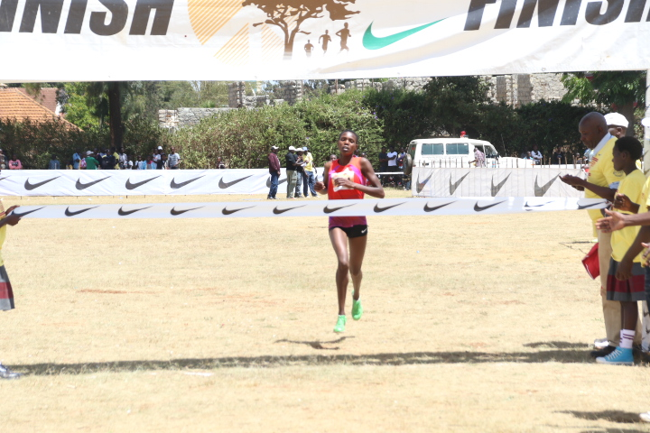 Brilliant Jepkorir during the 2019 Discovery Kenya cross country race