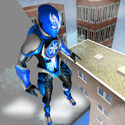 Superhero Frost Man City Rescue: Snowstorm Game
