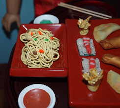 Photo: The noodles are made with a clay extruder.   It's kind of expensive so be sure to use your craft store coupon.  But it's definitely worth the money.  And it's a lot of fun to play with!
