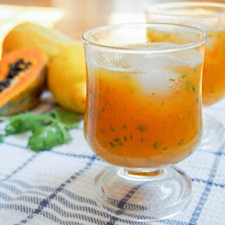 Papaya lemonade #FoodieExtravaganza.