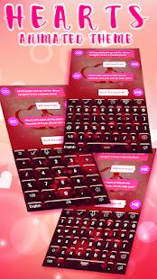 Hearts Animated Keyboard HD - náhled