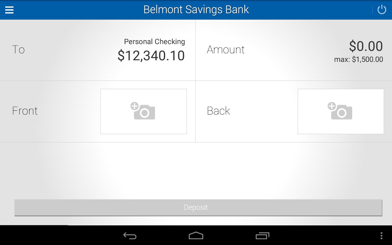 Belmont Savings Bank- screenshot