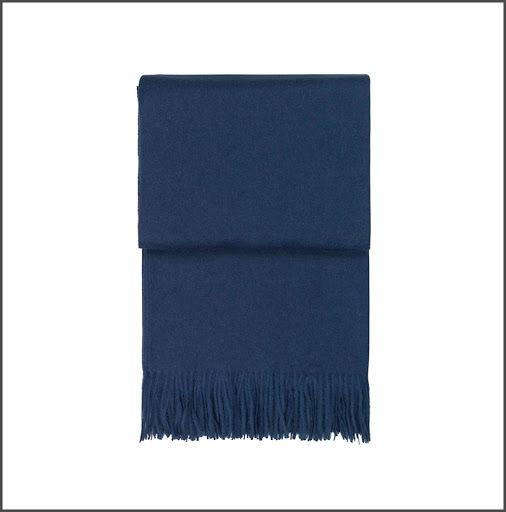 Pläd Elvang Classic mörkblå