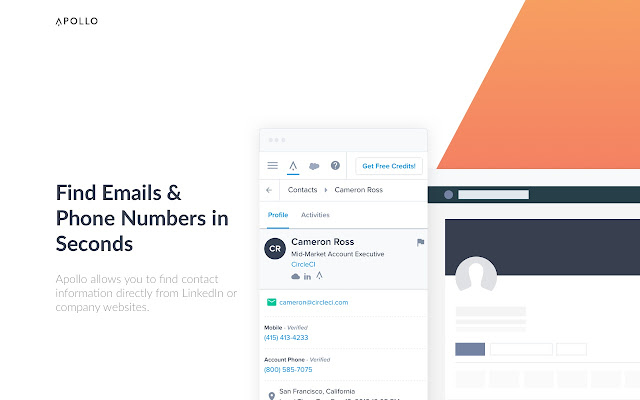 Apollo.io: Email Finder and Open Tracker