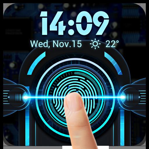 Fingerprint style lock screen for prank