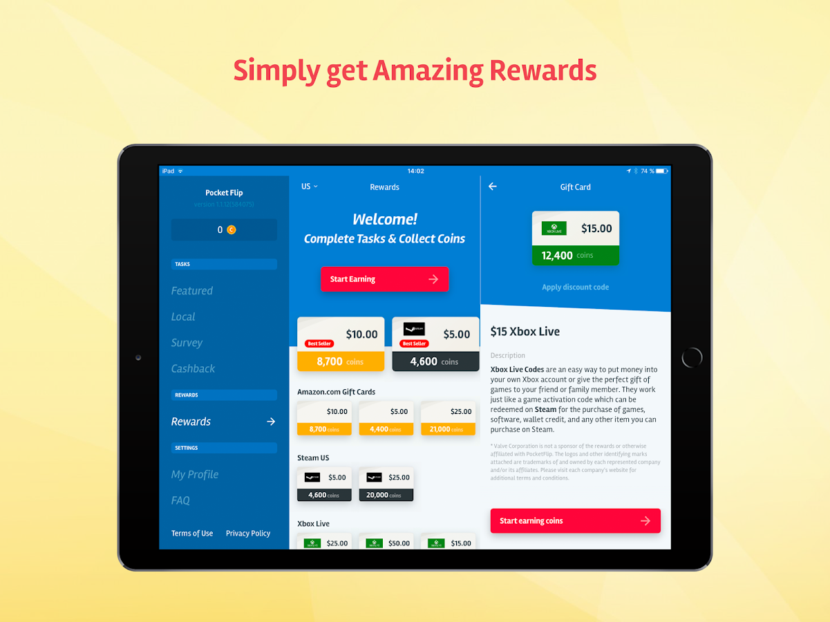 PocketFlip - Free Gift Cards- screenshot