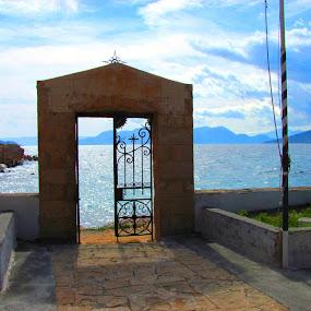 Doorway tt... by Jacob Uriel - Buildings & Architecture Other Exteriors ( europe, blue, greece, door, gate )