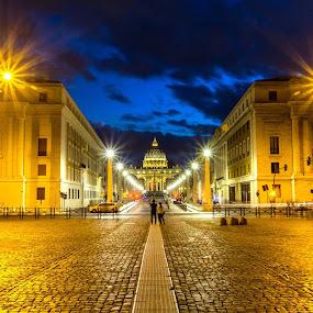 by David Marjanovic - Uncategorized All Uncategorized ( lights, rome, blue hour )