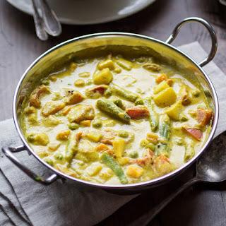 Creamy Indian Vegetable Korma.