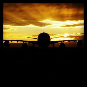 A-340 at Denver INTL Airport by Gerardo Texidor - Transportation Airplanes