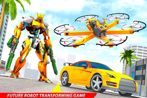 Drone Robot Car Transforming Gameu2013 Car Robot Games screenshots 21