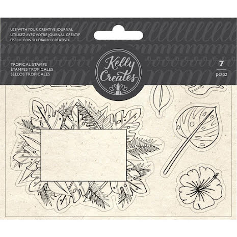 Kelly Creates Acrylic Traceable Stamps - Tropicals