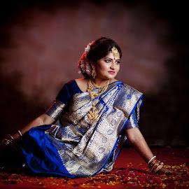 indrani the bride by Rathin Das - Wedding Bride ( bride, wedding, portrait, reception, photography )
