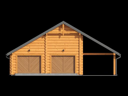 Garaż gd2w - Elewacja przednia