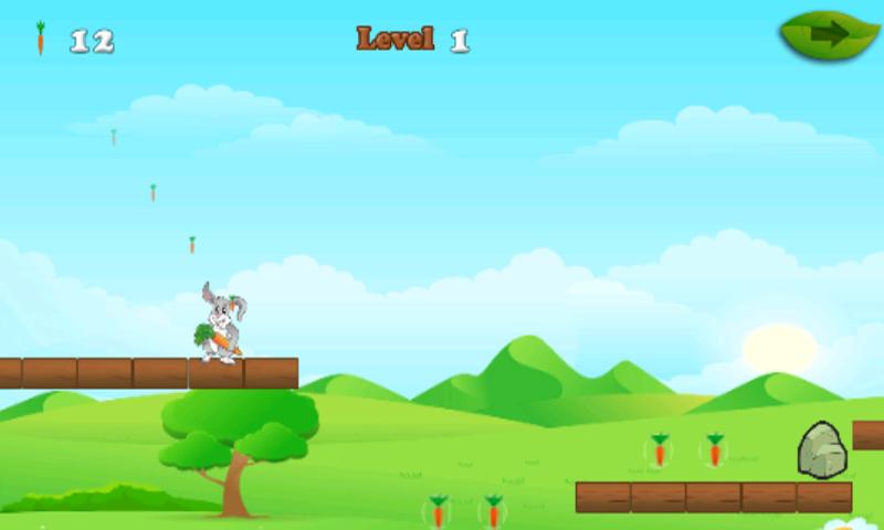 android Rabbit And Carrots Run Game Screenshot 5