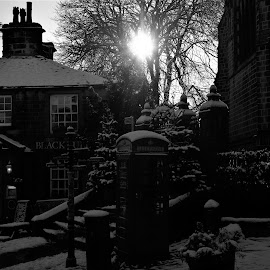 Howarth under snow  by Andy Bampton - City,  Street & Park  Street Scenes