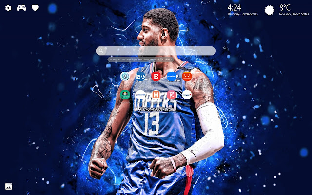 Paul George Wallpaper HD New Tab Theme