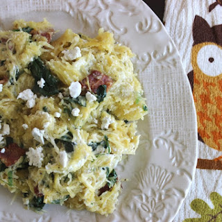 Spinach, Bacon and Goat Cheese Squash Recipe