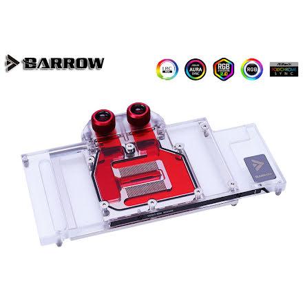 Barrow vannblokk for skjermkort Gainward/Galax RTX™ 3080 - Nickel+Plexi