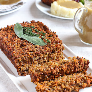 Lentil Loaf with Classic Brown Onion Gravy.