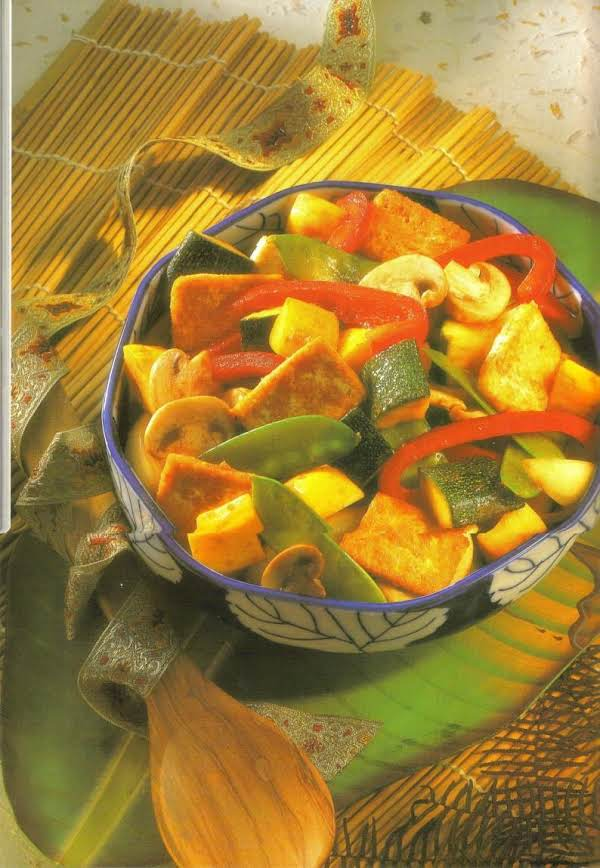 Stir Fred Tofu And Vegetables