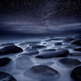 Beyond our imagination by Jorge Maia - Landscapes Starscapes ( water, dream, stars, mood, night, waterscapes, rocks )