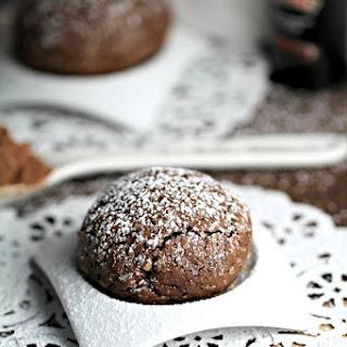 Chocolate Cherry Baileys Cookies with Walnuts.