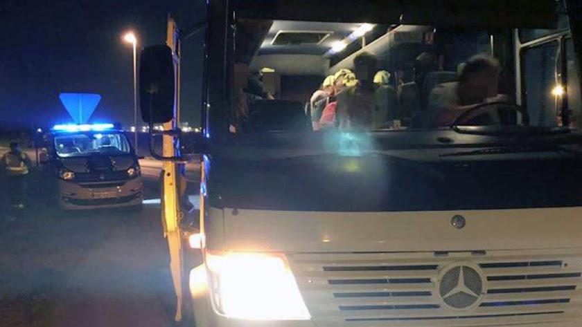 El conductor ha sido denunciado dos veces./ Foto: Guardia Civil