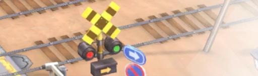 砂漠の線路