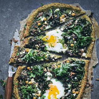 Kale, Lemon & Egg Pizza.