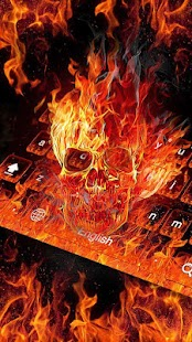 Fire Skull Keyboard Theme- screenshot thumbnail