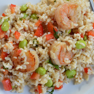 Clean Eating Shrimp and Edamame Brown Rice