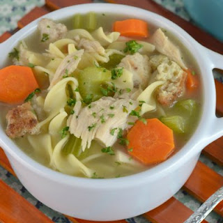 Roasted Turkey and Stuffing Noodle Soup