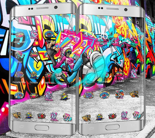 Street Graffiti Theme Wall Art For Android