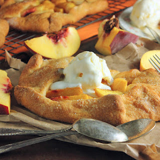 Open Face Peach Pies