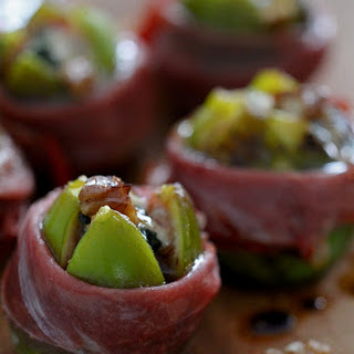 Roasted Figs with Roquefort, Walnuts, and Proscuitto.