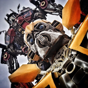 Transformers by Geary LeBell - Instagram & Mobile iPhone ( transformers, metal, mechanical, robot, tranformer )