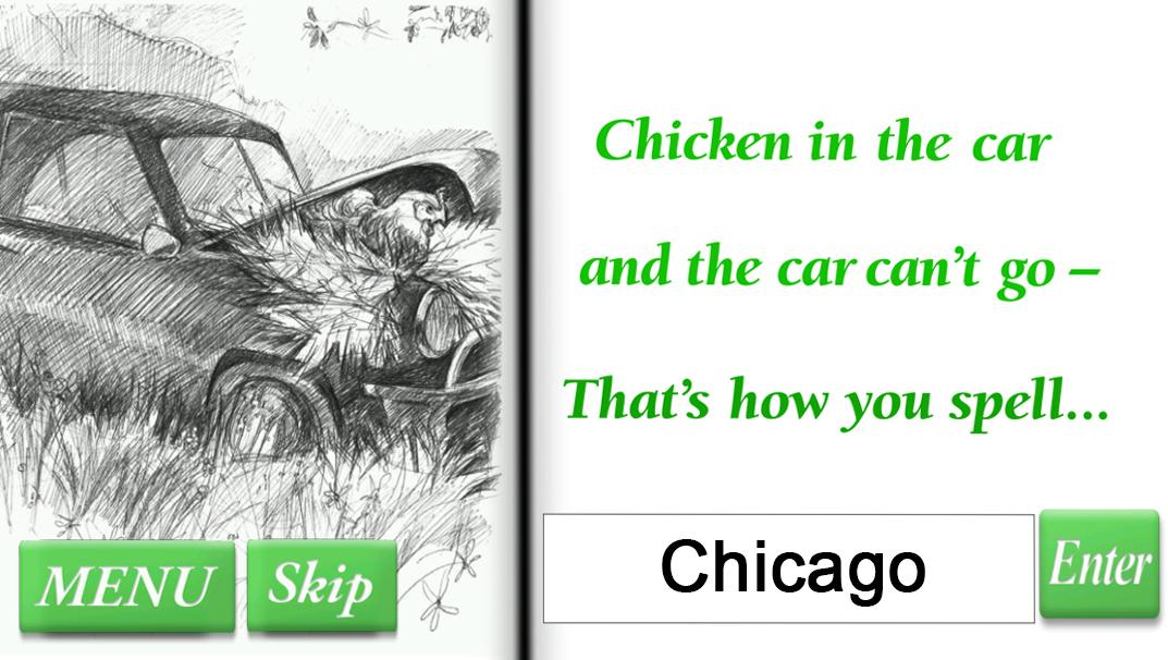 Riddle Rhymes: Chicken in Car- screenshot