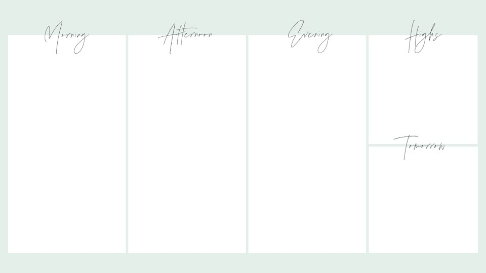 Minty Daily Planner - Calendar Template