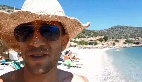 A screenshot of a video of Adam Catzavelos where he uses the 'K-word'.