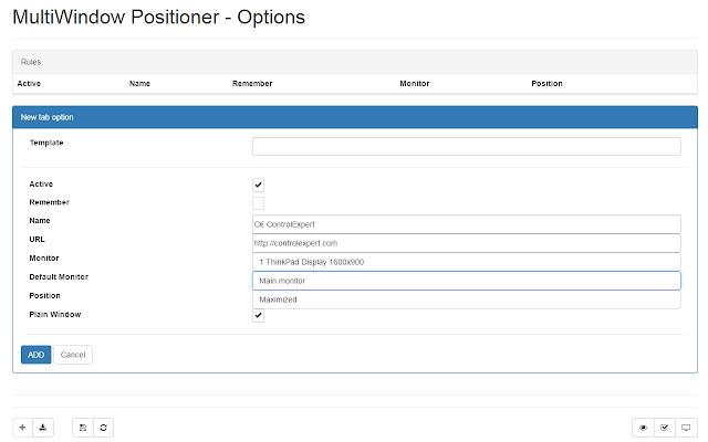 MultiWindow Positioner