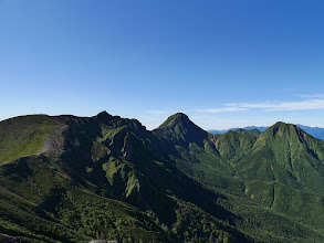 硫黄岳から赤岳方面