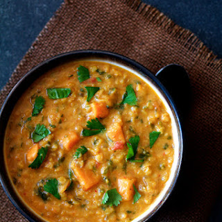Thai Red Curry Sweet Potato and Lentil Soup