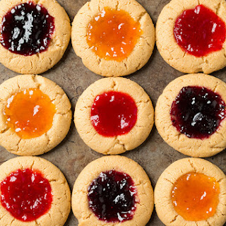 PB&J Thumbprint Cookies