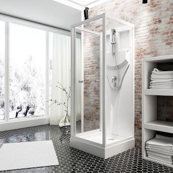 Cabine de douche intégrale Juist 80 ou 90 cm
