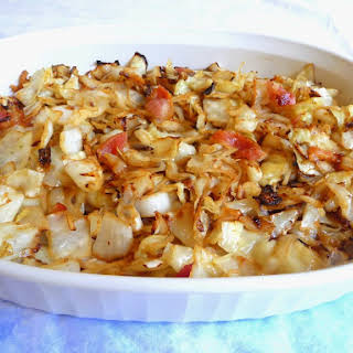 CABBAGE AND BACON STIR FRY.