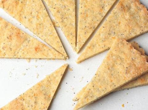 Orange-poppy Seed Shortbread Wedges Recipe