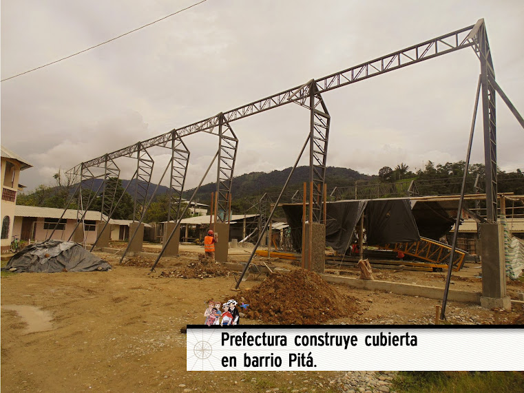 PREFECTURA CONSTRUYE CUBIERTA EN BARRIO PITÁ.
